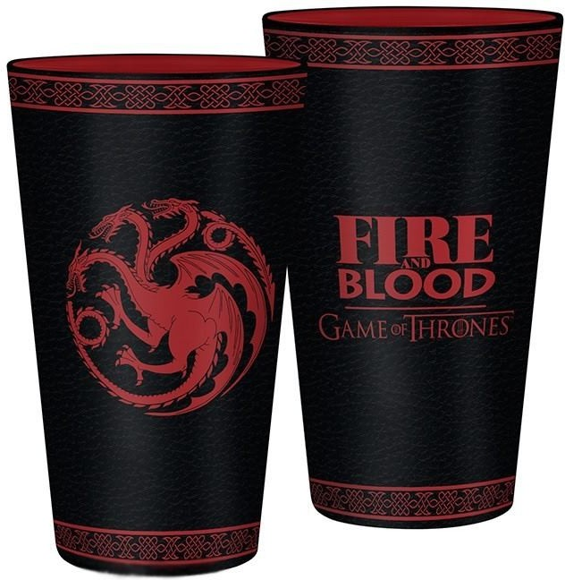 GAME OF THRONES - Sklenice - 400ml - Targaryen